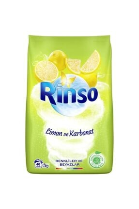Rinso Limon Ve Karbonat Renkliler Ve Beyazlar Için Toz Çamaşır Deterjanı 6 Kg 40 Yıkama