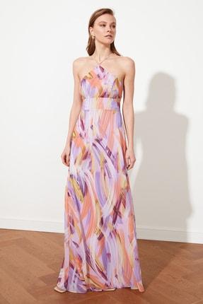 TRENDYOLMİLLA Çok Renkli Bel Detaylı Abiye & Mezuniyet Elbisesi TPRSS21AE0131