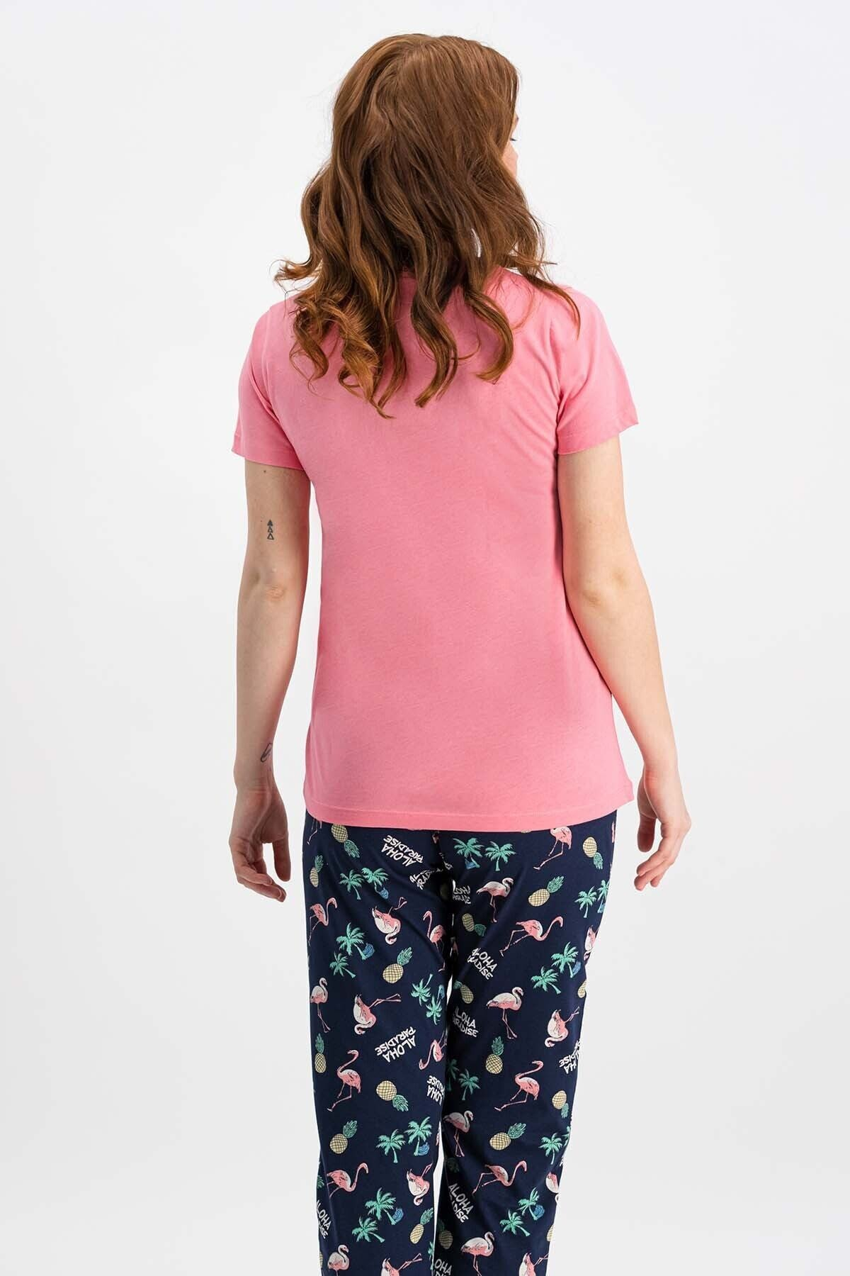 ROLY POLY Kadın Şeker Pembe Kısa Kollu Pijama Takımı 2