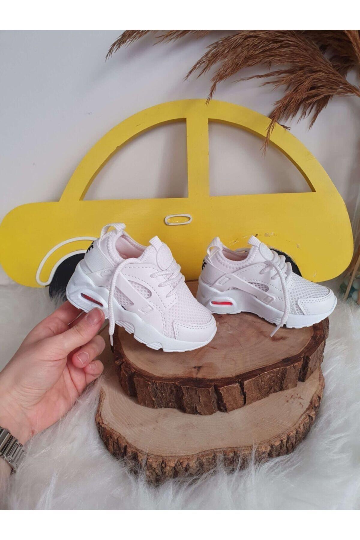 VOSVOSBABY Işıklı Beyaz Ayakkabı 2