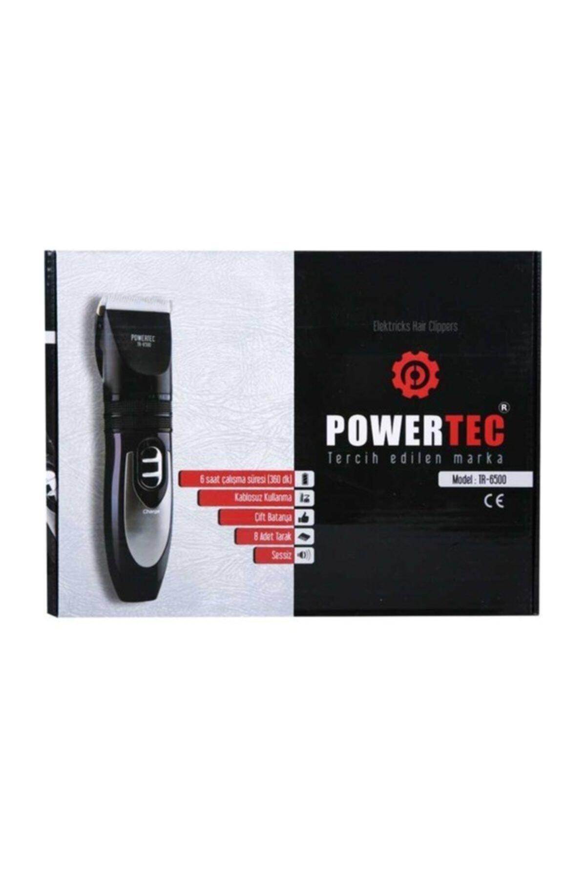 Powertec Saç Sakal Kesme Makinesi 2 Yıl Garantili Yedek Bataryalı 1