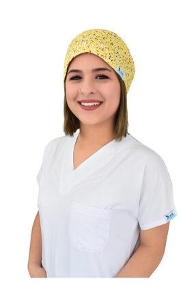 Nur Ortopedi Sarı Beyaz Papatyalar Doktor Hemşire Hastane Cerrahi Bonesi
