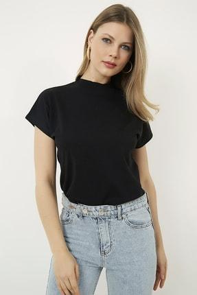 Vis a Vis Kadın Siyah Kolsuz Basic Örme T-Shirt STN878KTS134