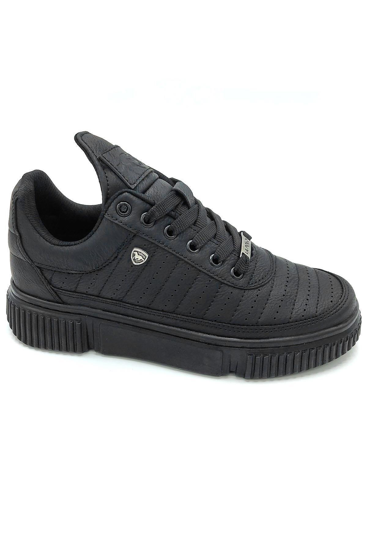 L.A Polo 071 Siyah Siyah Erkek Spor Ayakkabı 1
