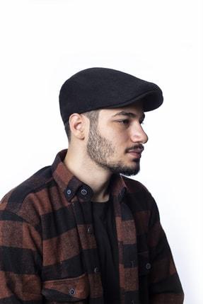 ÜN ŞAPKA Erkek Lastikli Kaşe Kasket Şapka