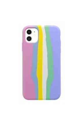 Plus Iphone 11 Pro Max Uyumlu  Rainbow Telefon Kılıfı