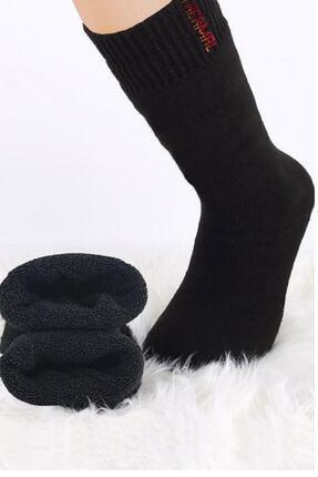 mofiy Erkek Siyah Termal Havlu Çorabı