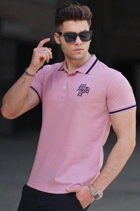 Madmext Armalı Pudra Polo Tişört 3055