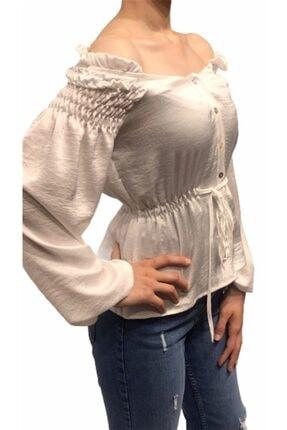 Robin Kadın M33410 Bluz Beyaz