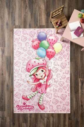 Taç Lisanslı Strawberry Shortcake Ballons Halı - 80 X 140 Cm