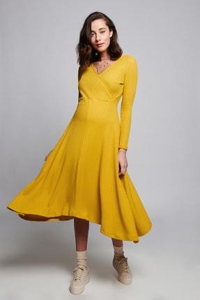LYN MAMA Kadın Sarı Hamile Lane Elbise