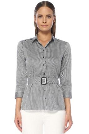 Network Kadın Lacivert-Beyaz Gömlek 1073197