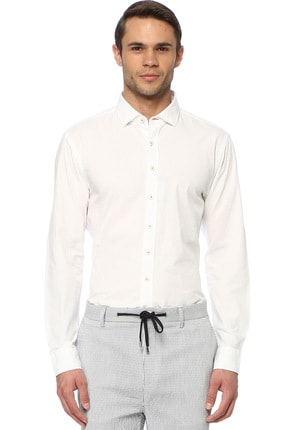 Network Erkek Beyaz Gömlek 1074028