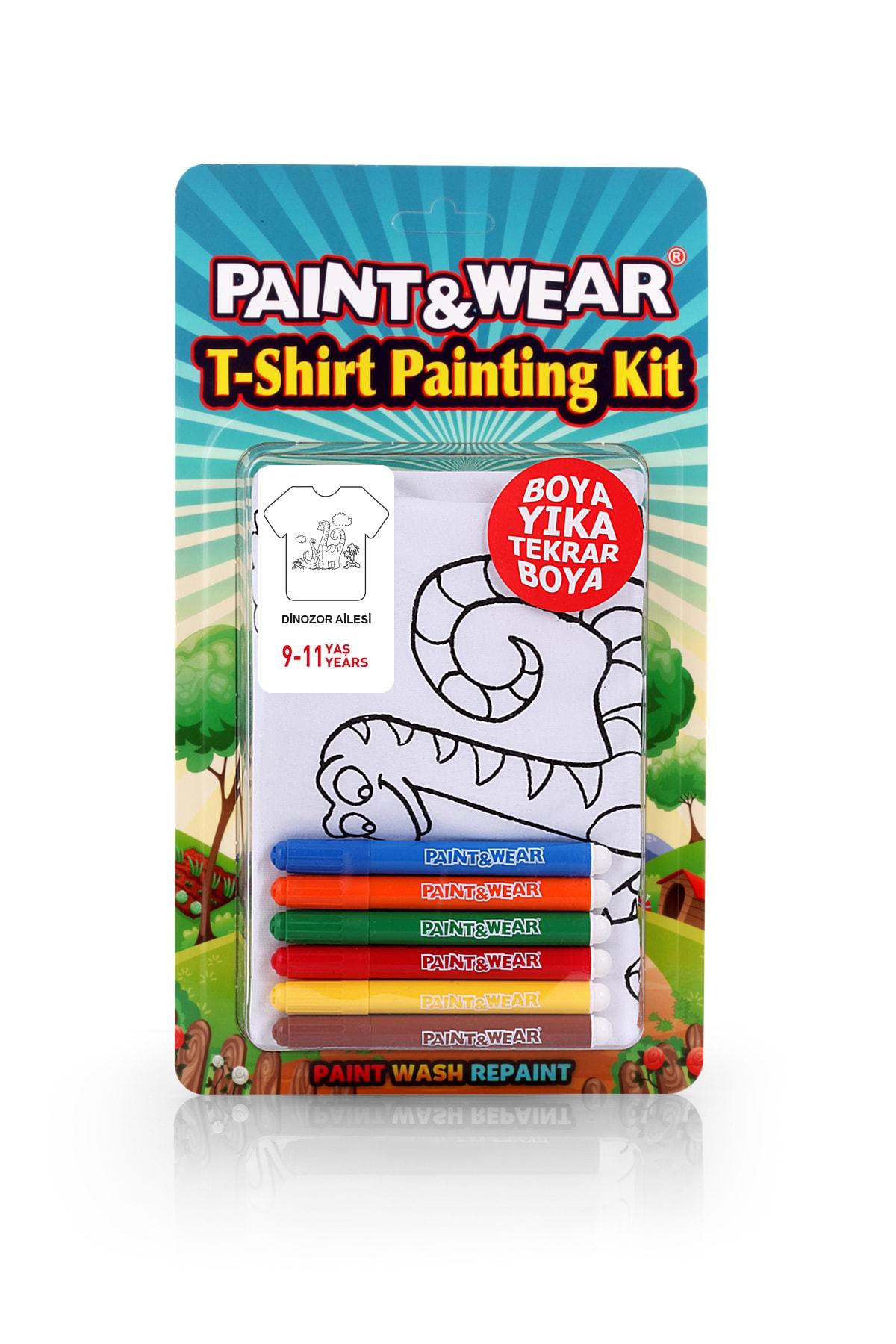 paint-wear Dinazor Ailesi Boyama T-shirt 9-11 Yaş 1