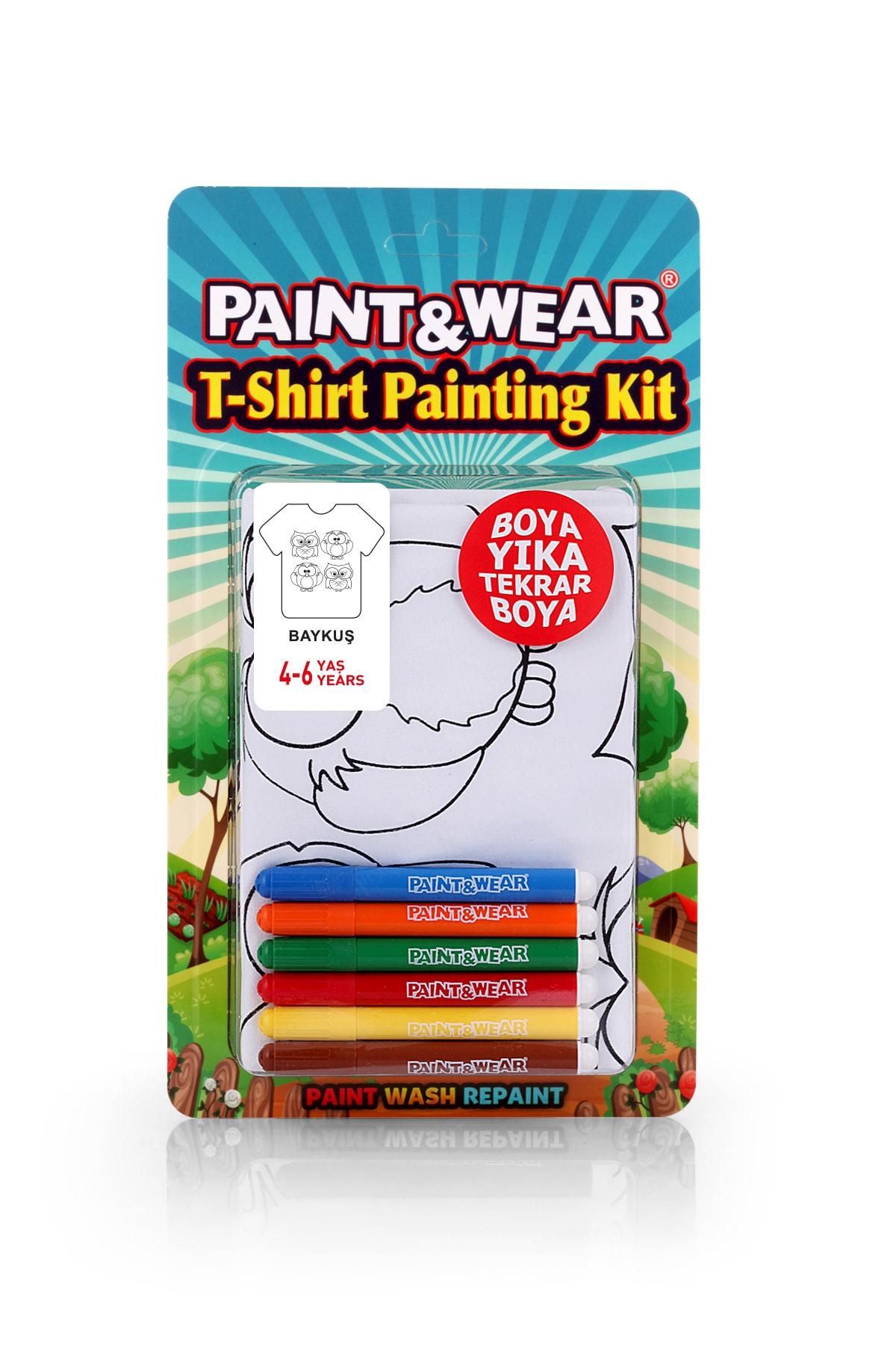 paint-wear Baykuş Boyama T-shirt 4-6 Yaş 1