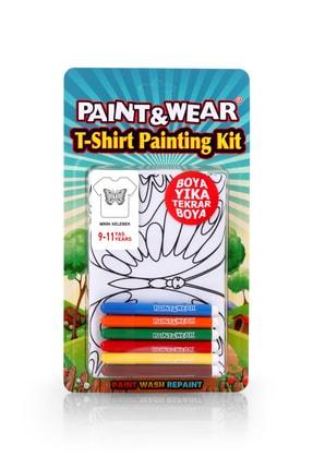 paint-wear Kelebek Boyama T-shirt 9-11 Yaş