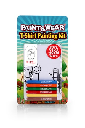 paint-wear Araçlar Boyama T-shirt 9-11 Yaş