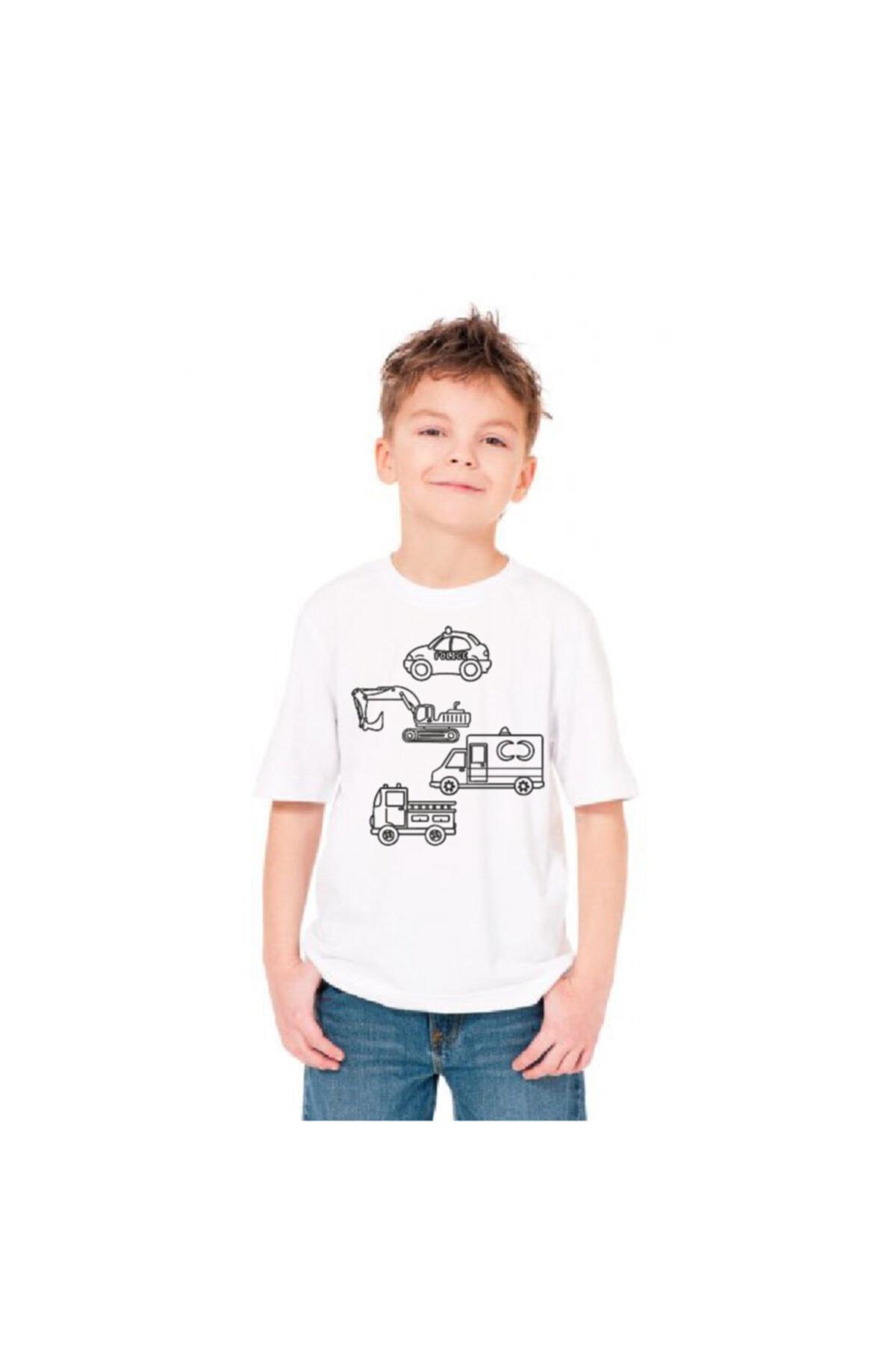 paint-wear Araçlar Boyama T-shirt 4-6 Yaş 2