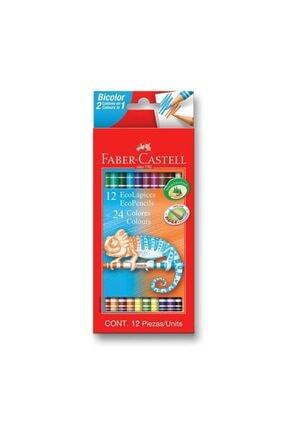 Faber Castell Bicolor Kuru Boya Kalemi 24 Renk