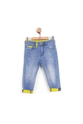 NK Erkek Çocuk Mavi Paçası Reli Pantolon