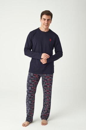 U.S. Polo Assn. Erkek Lacivert Pijama Takımı