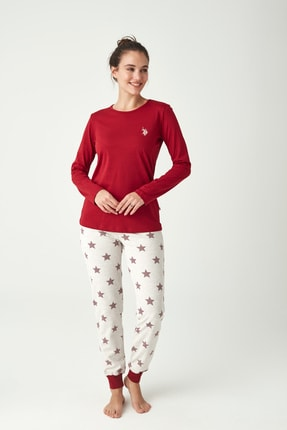 U.S. Polo Assn. Kadın Mürdüm Pijama Takımı
