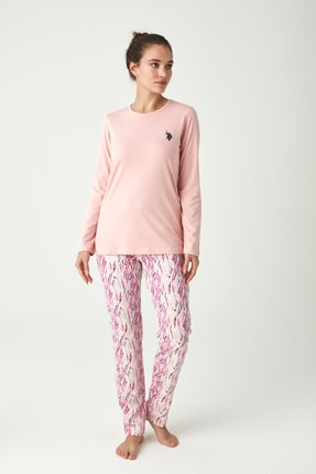 U.S. Polo Assn. Kadın Pudra Pijama Takımı