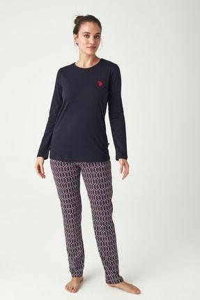 U.S. Polo Assn. Kadın Lacivert Pijama Takımı