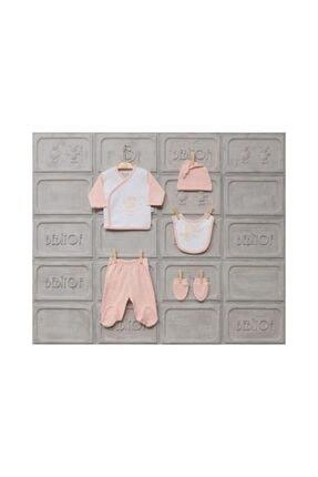 Bebitof Kız Bebek Pembe Uyku Zamanı 5li Zıbın Set 28000