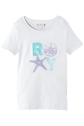 Roxy Çocuk Beyaz Baskılı Kısa Kollu Tişört Ergzt03033 Wbb0