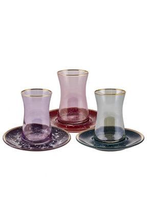 Karaca 3 Renk 1 Set 12 Parça Çay Seti