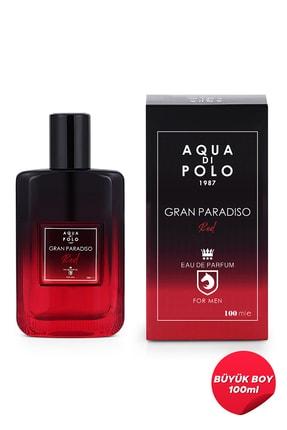 Aqua Di Polo 1987 Aynı Butikte 2. Ürün 1 TL Gran Paradiso Red Edp 100 ml Erkek Parfümü  Apcn001803