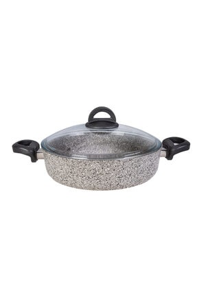 Karaca Dark Silver Bio Granit 26 cm Karnıyarık Tencere