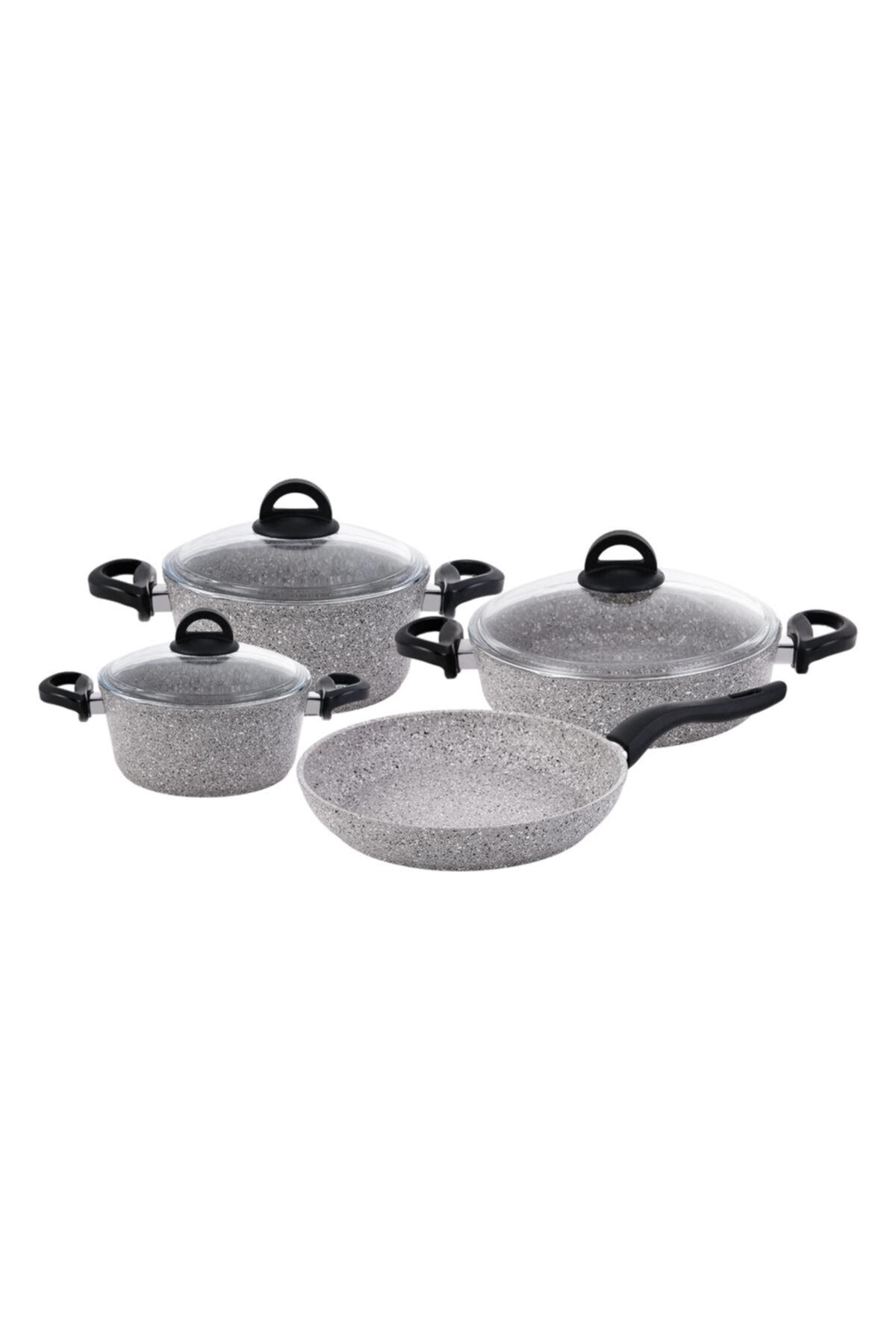 Emsan Premium Granit 7 Parça Tencere Seti Grey 1