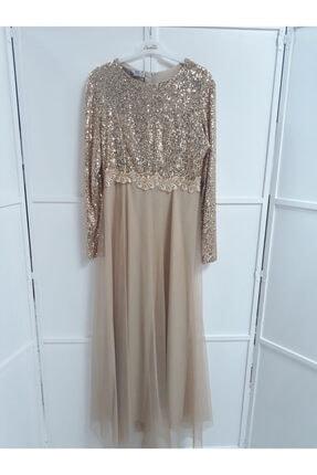 Armoni Kadın Gold Elbise