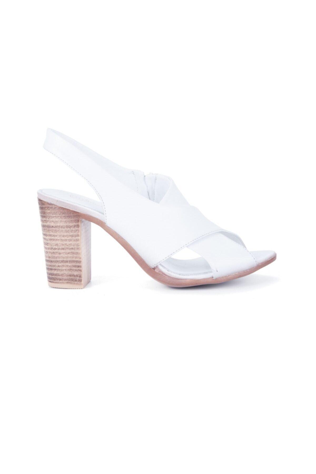 Mammamia Kadın Beyaz Sandalet 1