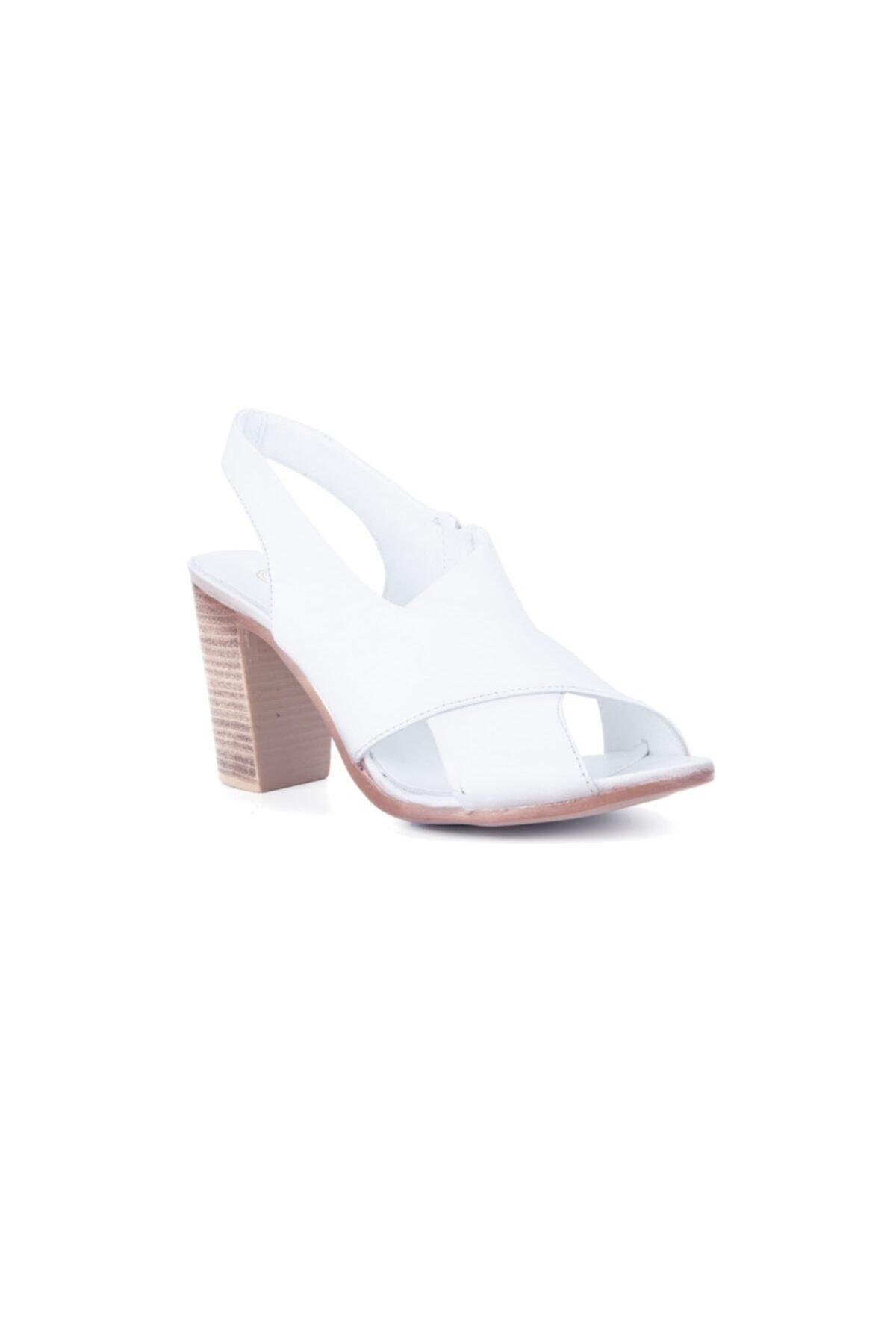 Mammamia Kadın Beyaz Sandalet 2