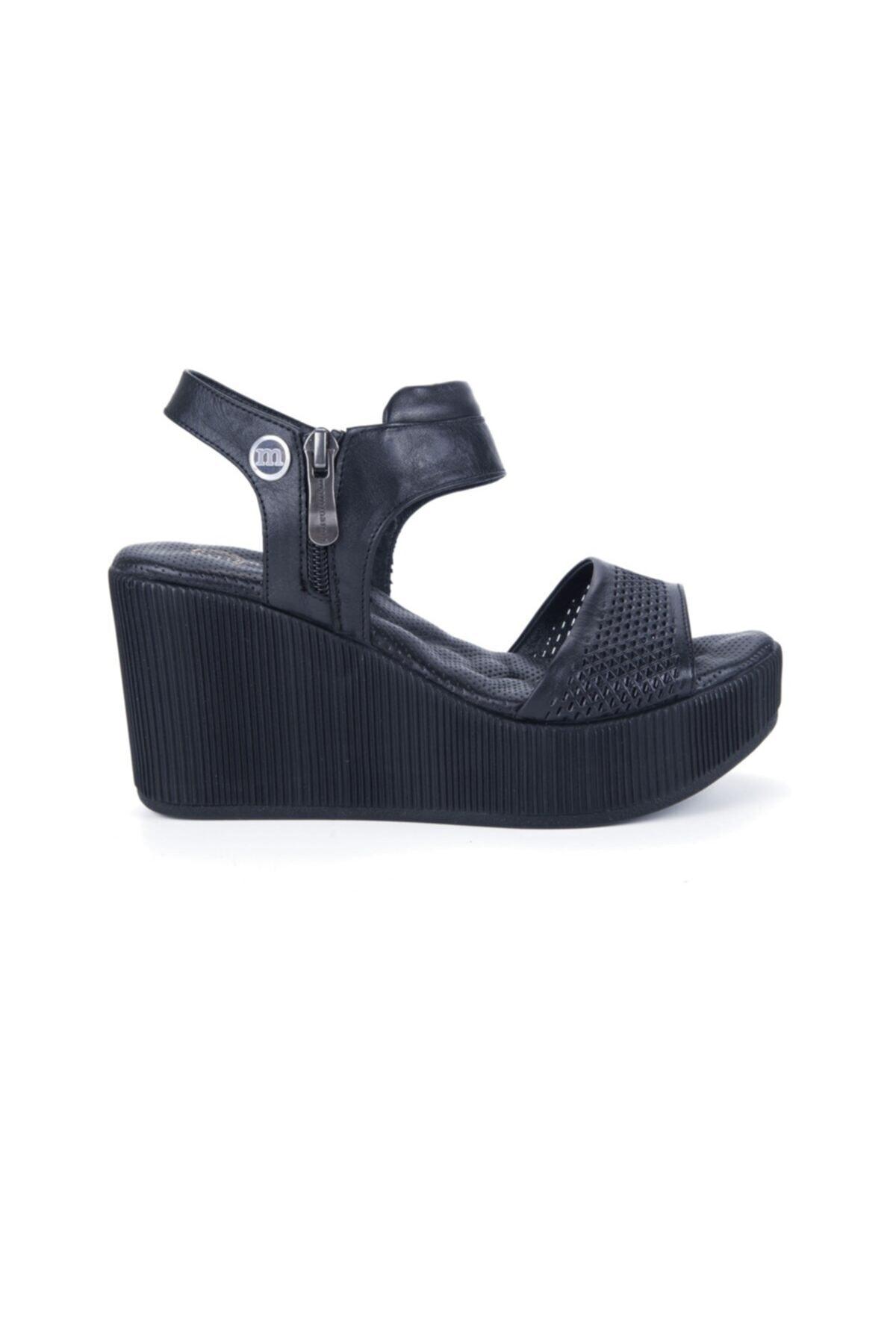 Mammamia Kadın Siyah Sandalet 1