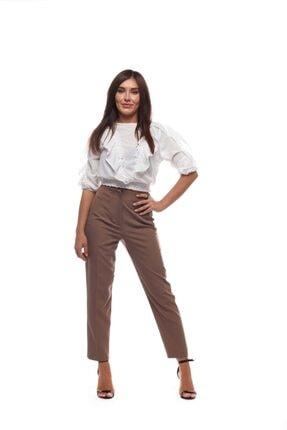 The pantolon Kadın Vizon Pensli Vizon Havuç Pantolon