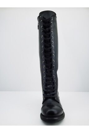 Mammamia Kadın Siyah Deri Çizme