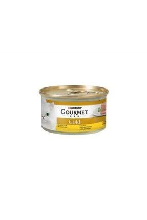 Purina Gourmet Gold Kıyılmış Tavuklu Yetişkin Kedi Konservesi 85gr.x 24 Adet
