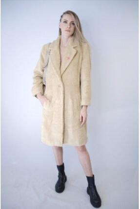 NK Kadın Krem Teddy Coat