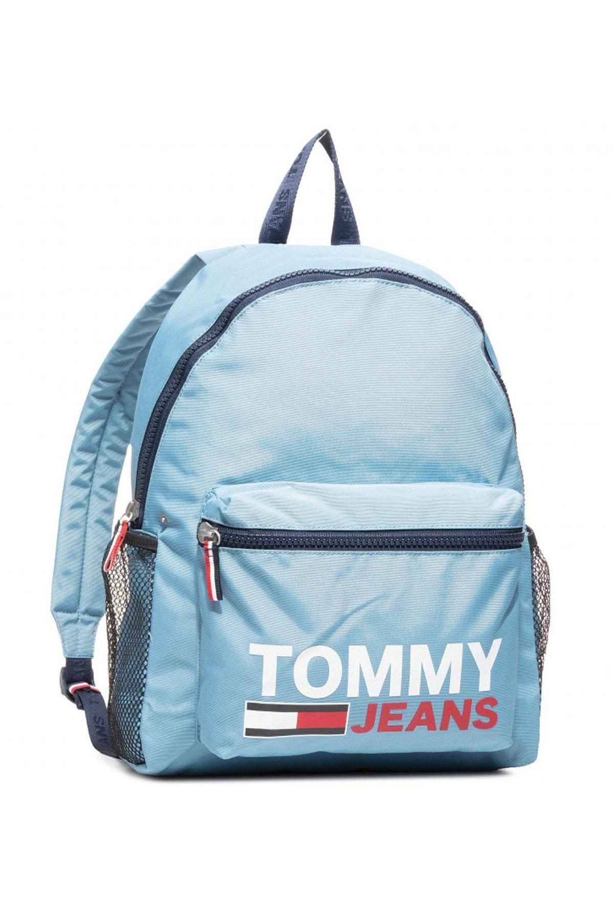 Tommy Hilfiger Erkek Mavi Campus Boy Graphic Sırt Çantası Am0am06755 1