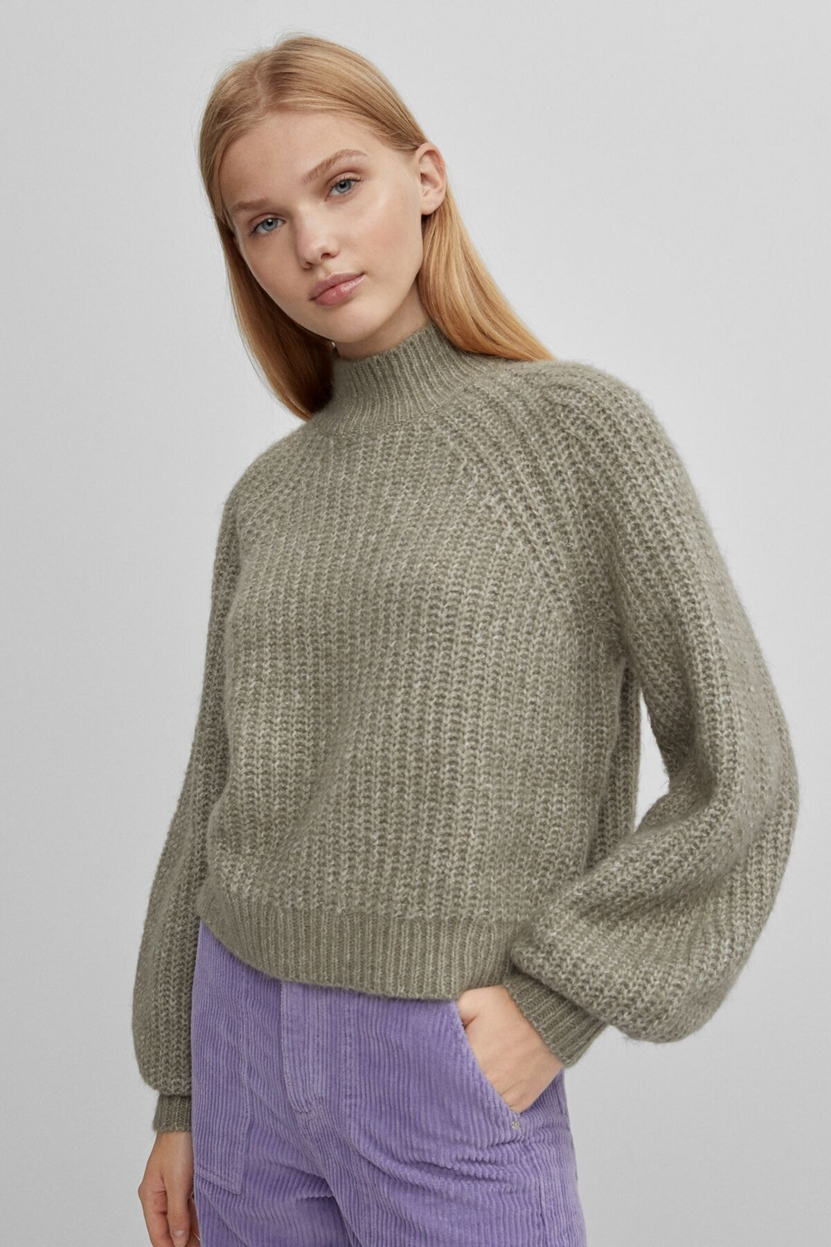 Bershka High Neck Flecked Sweater 1