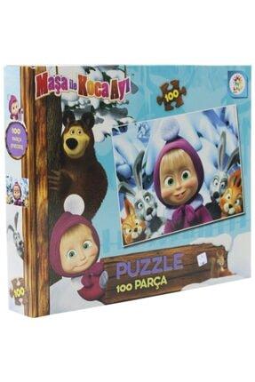 LAÇO Maşa Ile Kocaayı 100 Parça Puzzle Masha Koca Ayı 100 Parça Puzzle