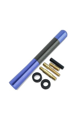 SAHLAN Peugeot 405 Uyumlu Karbon Mavi Oto Radio Anteni Çubuk Anten