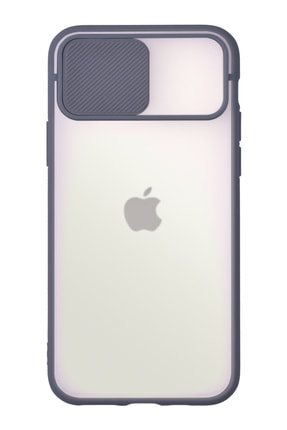 KZY Apple Iphone 11 Pro Kapak Lensi Açılır Kapanır Kamera Korumalı Silikon Kılıf