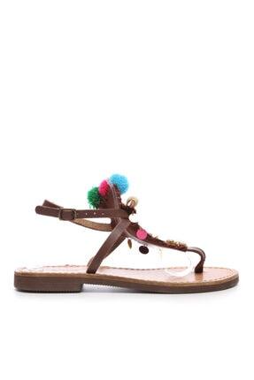 KEMAL TANCA Kadın Kahverengi Derı Sandalet 607 3075
