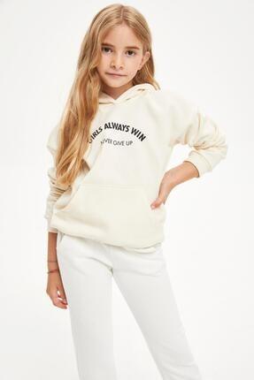 DeFacto Kız Çocuk Yazı Baskılı Sweatshirt