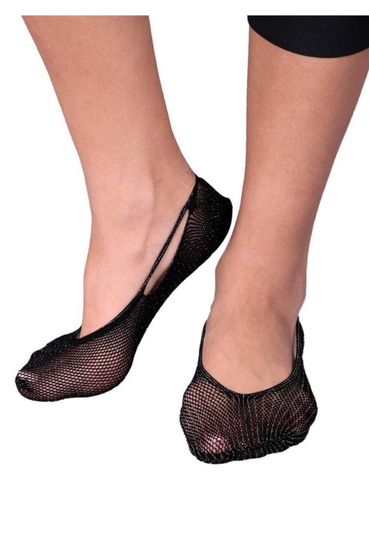Penti Kadın Siyah Sık Fileli Babet Çorap 1